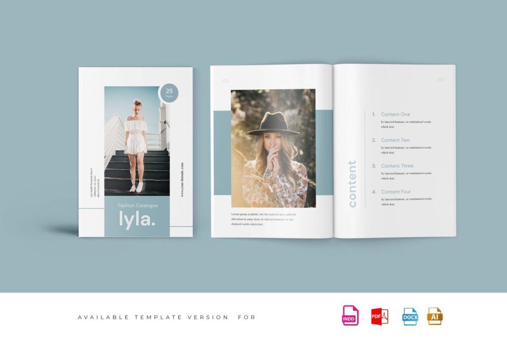 精致文艺时尚主题杂志主题画册模板Lyla Fashion Magazine Template插图