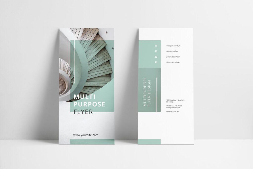 企业简洁板式三折页模板素材下载MINT Multipurpose Trifold Brochure插图