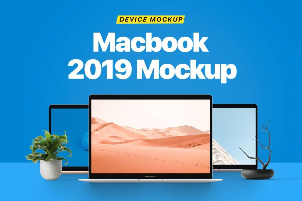Macbook 2019样机笔记本电脑设备样机模型下载Macbook 2019 Mockup插图