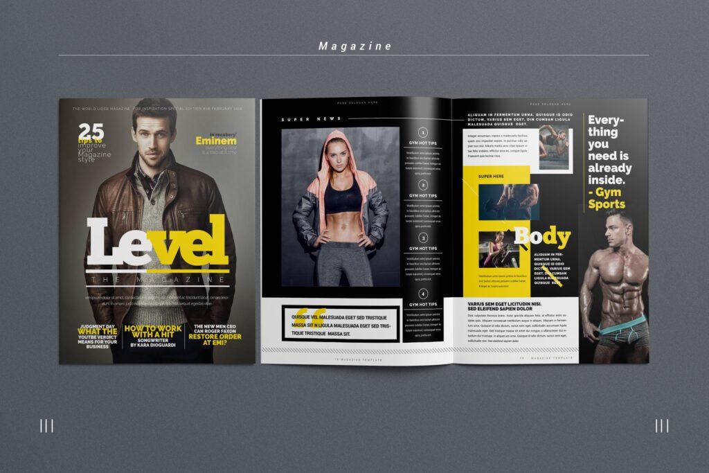 健身运动主题周刊杂志模板/Magazine插图