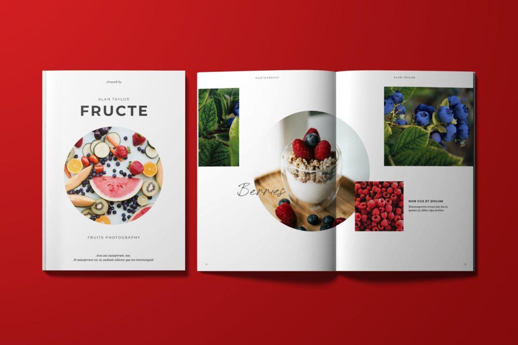 西式美食甜点新餐品介绍杂志模板6dqsyaf插图