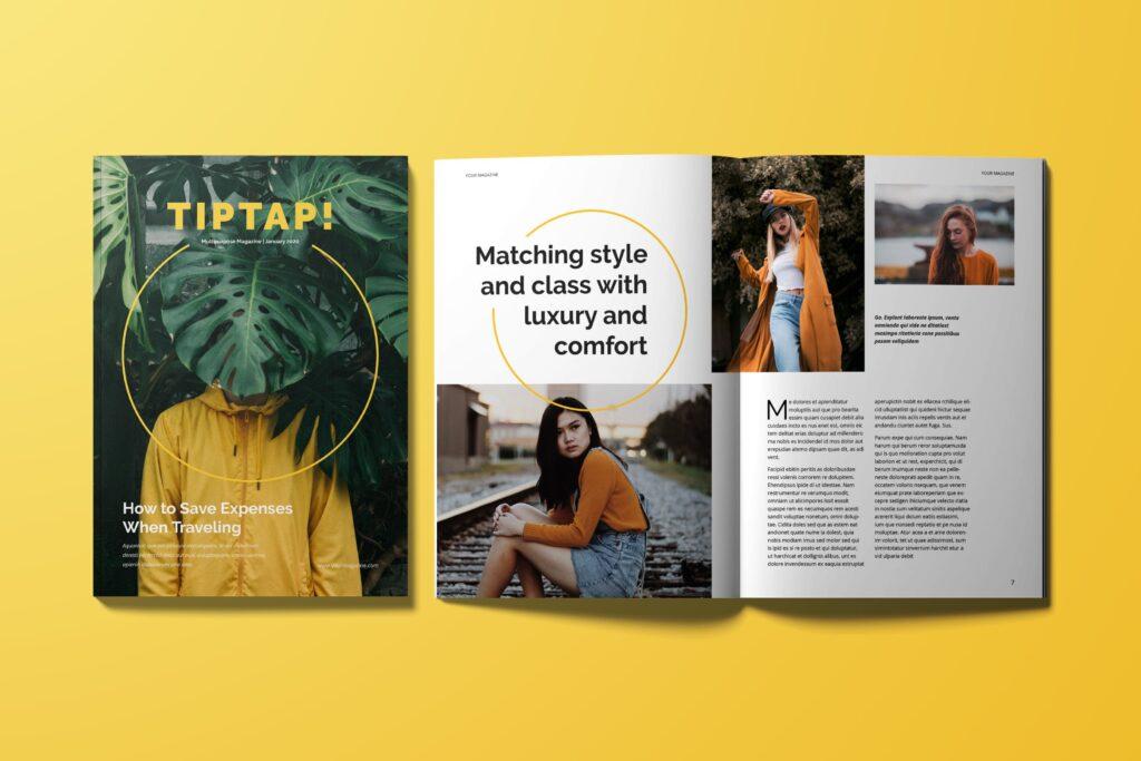 时尚潮流企业多用途杂志模板Magazine插图