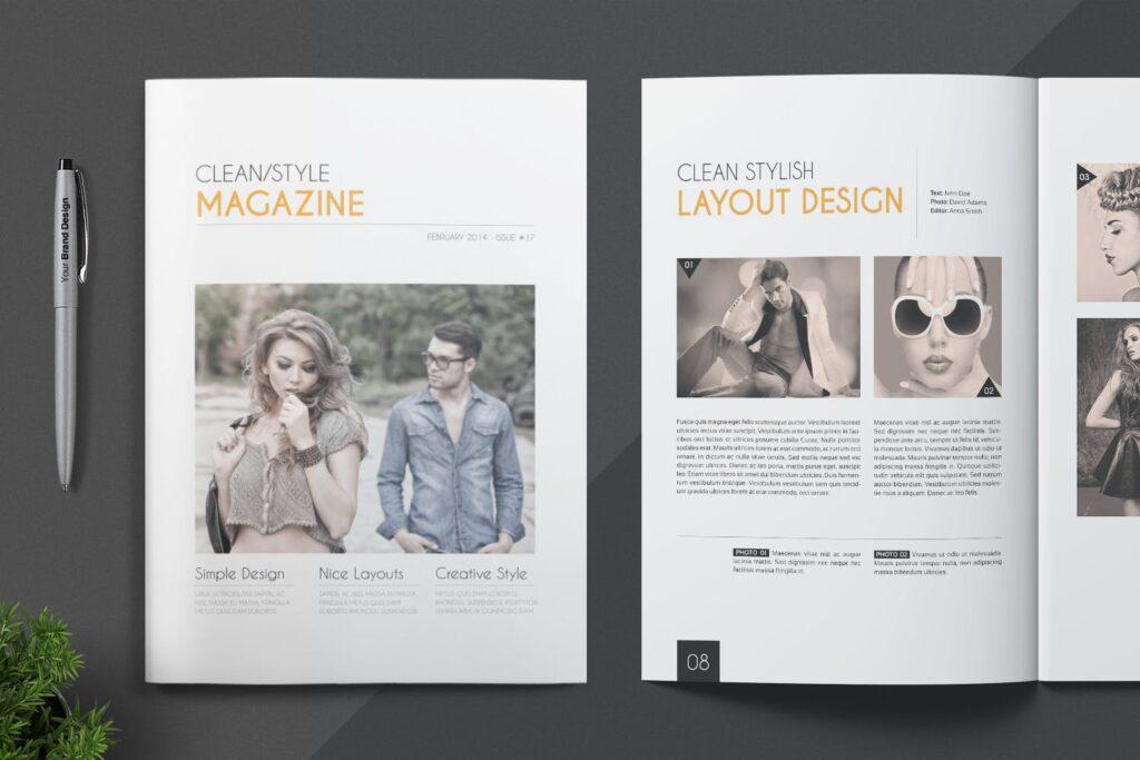 企业多用途杂志画册模板素材下载Magazine Template 4DG6APQ插图