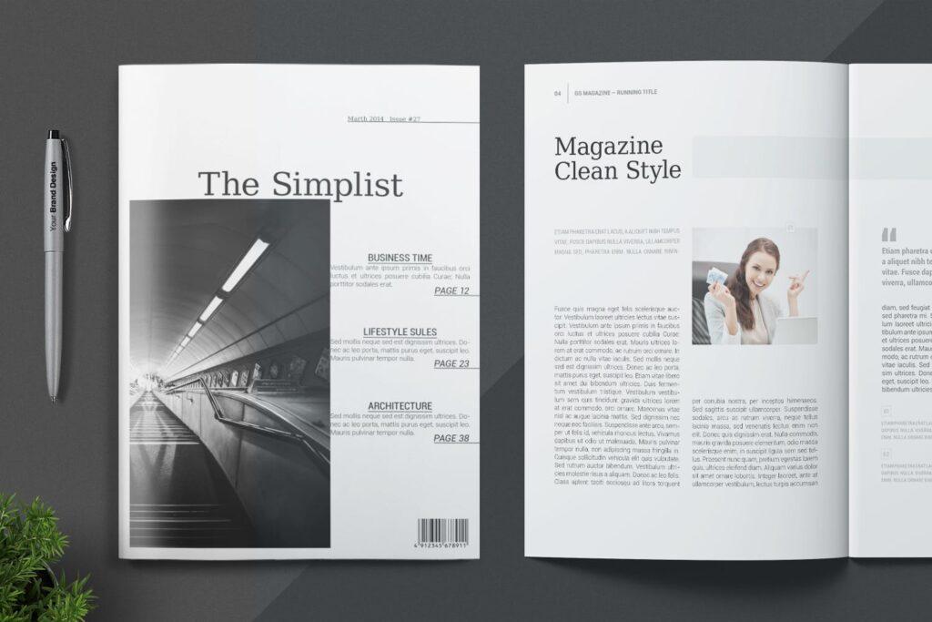 企业商务多用途/企业规划手册模板Magazine Template插图