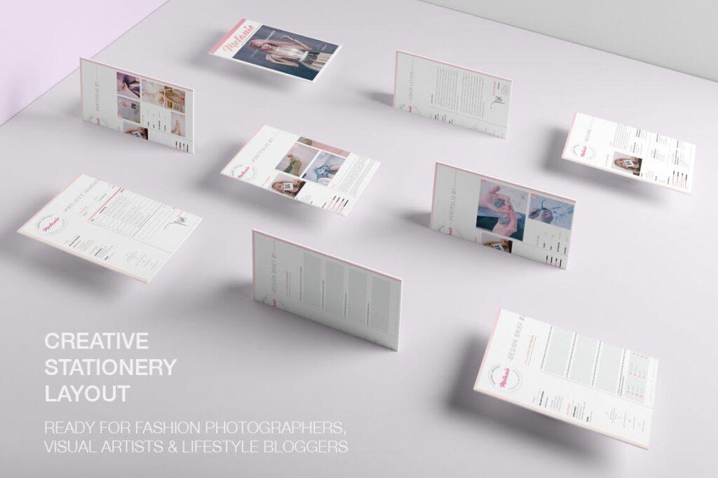 时尚多行业多用途印刷类模版素材Melanie Creative Stationery 01插图