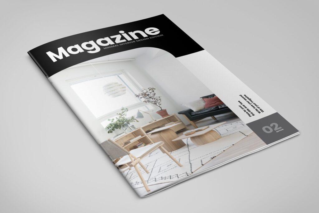 极简室内设计/居家生活美学杂志画册模板Minimal Interior Design Magazine插图