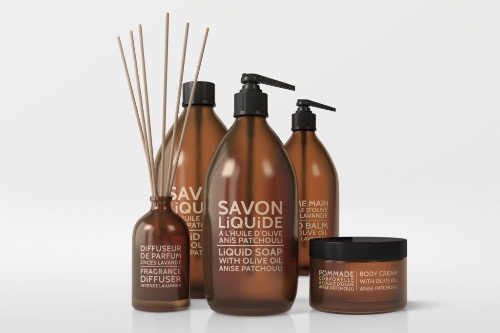 棕色天然化妆品包装瓶实物模型样机Natural Cosmetic Packaging Mock Ups Vol3插图(1)