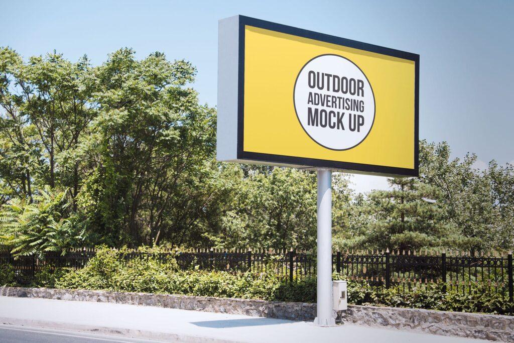 户外广告牌广告模型模板样机Outdoor Advertisement Mockup Template 10插图