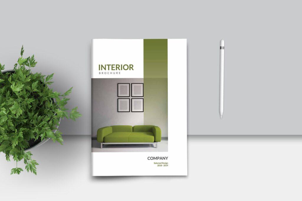 优雅简洁室内设计手册/目录/杂志画册模板PSD Interior Brochures Catalogs Magazine插图
