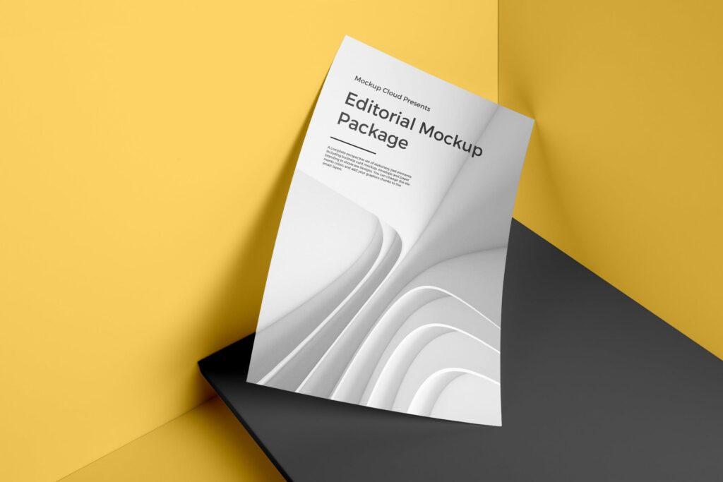 海报/信笺或传单PSD模型样机下载Poster A4 Letterhead Mockup Vol3插图