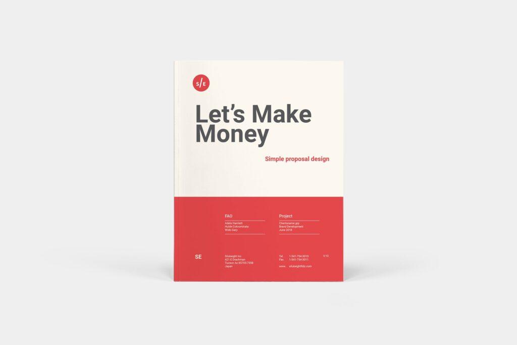 企业商业计划书企业内部提案模板Proposal插图
