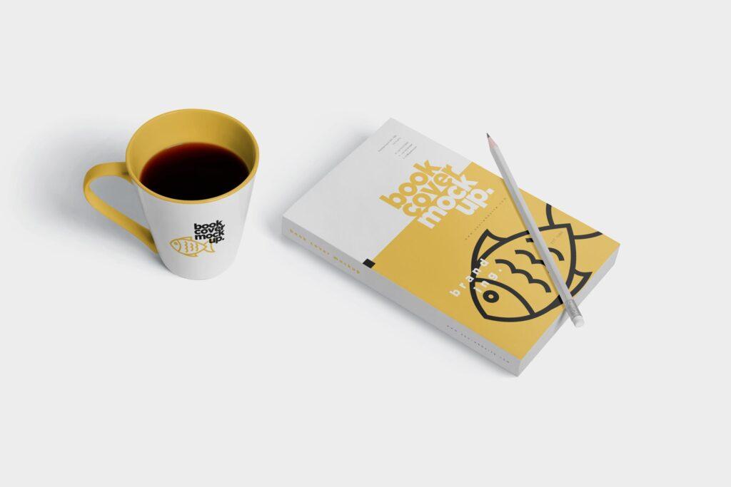 精致文艺书籍封面样机模型效果图Realistic Book Cover Mockups插图