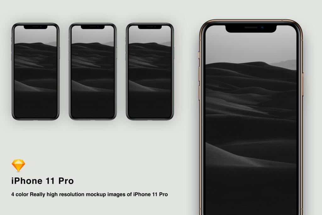 iPhone 11 Pro模型样机展示效果图下载Sketch mockup iPhone 11 pro插图