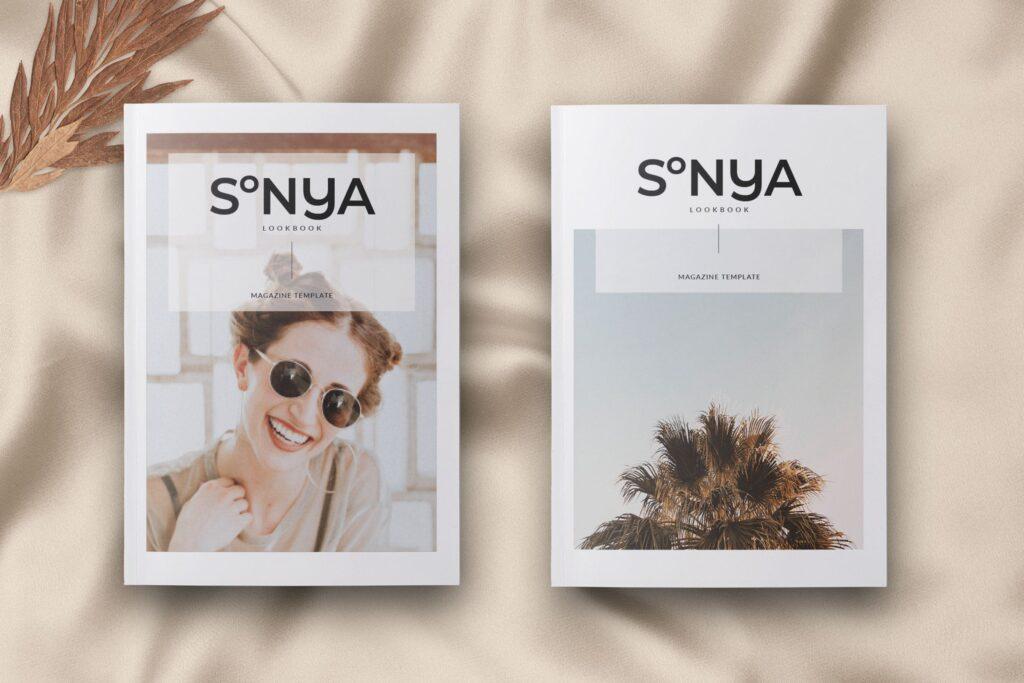 潮流时尚生活方式周刊杂志模版Sonya Lookbook Magazine插图