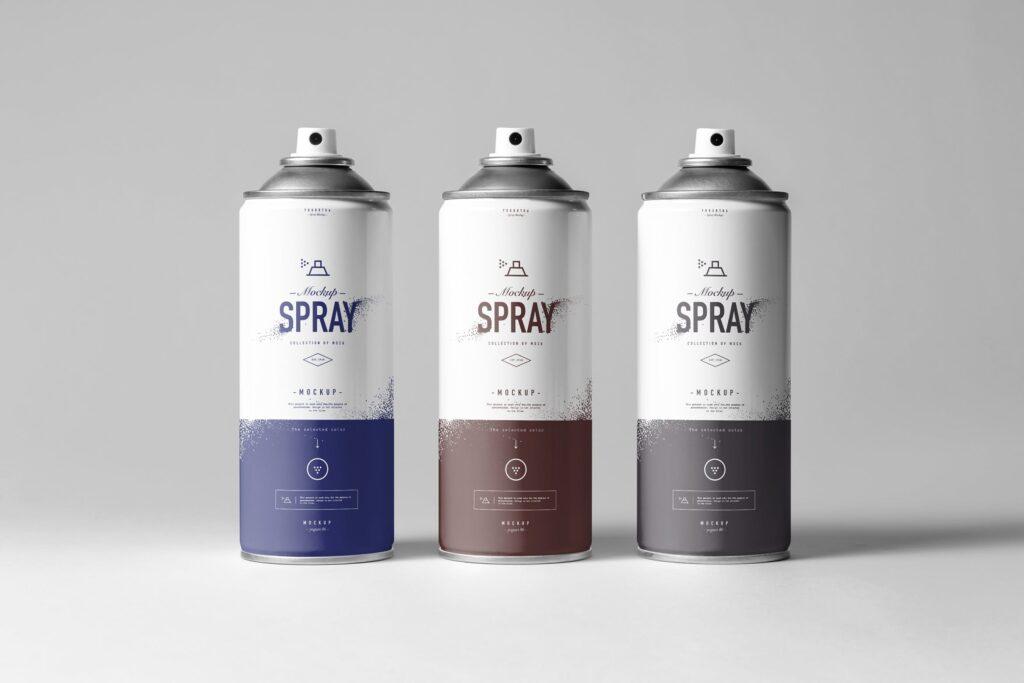 街头艺术喷绘美术作品金属罐模型样机下载Spray Can Mockup 7N8PV8插图