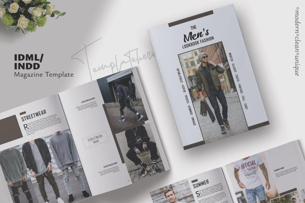 潮流男士服装品牌杂志模版The Mens Lookbook Magazine插图
