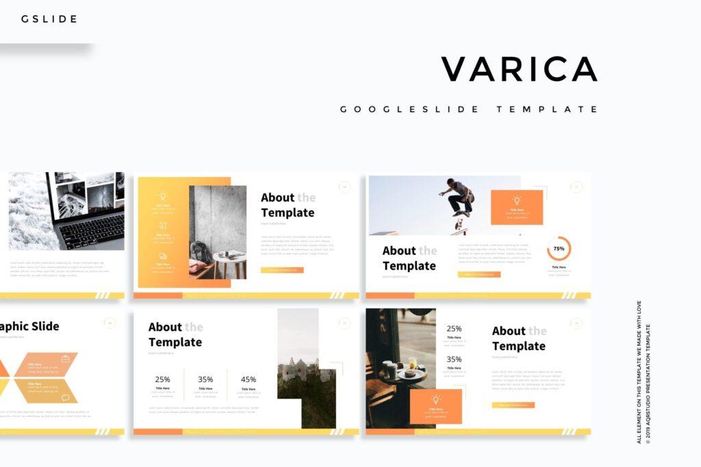 互联网公司市场销售数据汇演ppt幻灯片模板Varica Google Slide Template插图