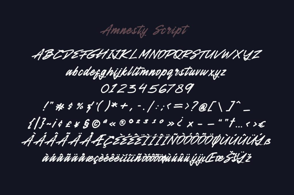 激情系列英文手写无衬线字体Amnesty Handwritten Font Duo插图(9)