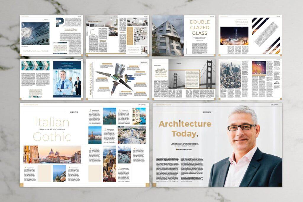 建筑设计/生态空间规划杂志模板Architecture Magazine插图(8)