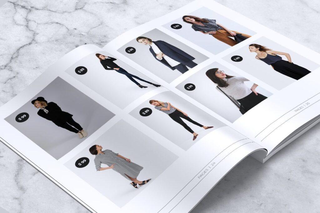女性时尚服装品牌杂志模板BLANKS Minimal Fashion Magazine插图(9)