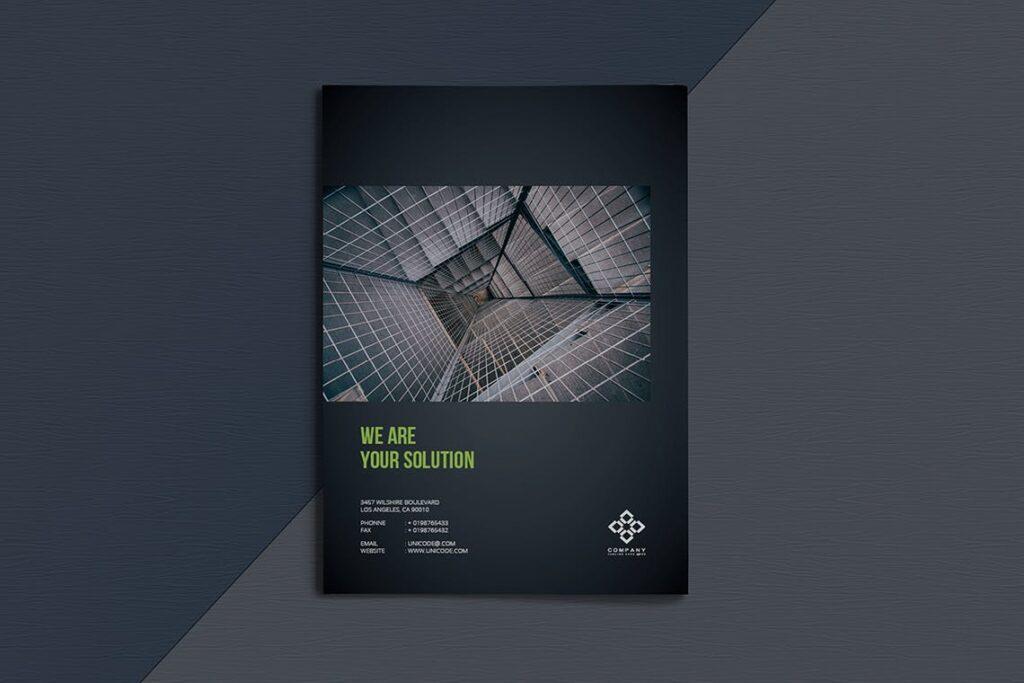 整洁典现代专业的企业商务手册模板Business Brochure Template DV95G插图(9)