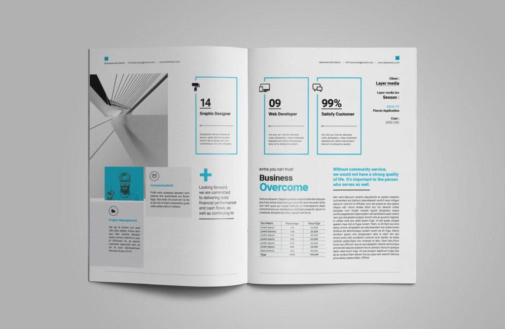 企业简介商务手册历史介绍杂志画册模板Business Profile插图(9)