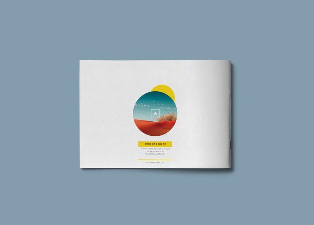横版企业小册子/目录模板画册杂志模板Clean Brochure Catalog Template插图(9)