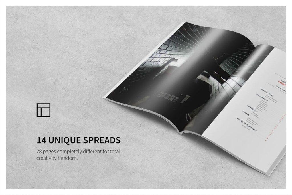 公司动态展示商业手册优雅简洁画册杂志模板Company Profile 001插图(8)