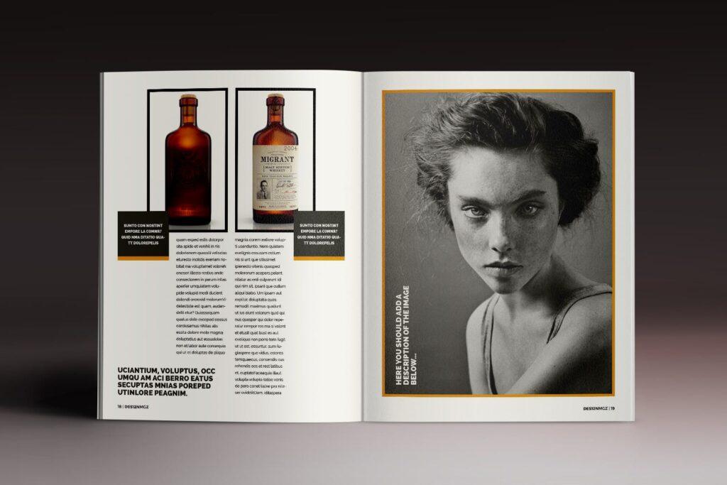 32页时代周刊画册杂志模板Des12n Magazine Indesign Template插图(7)