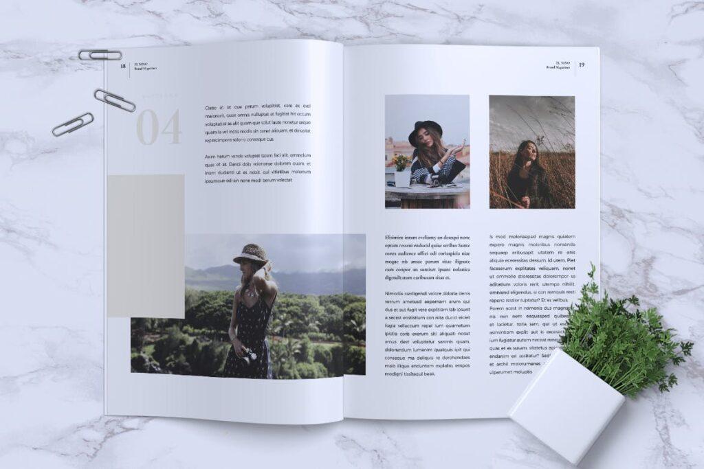 高端企业品牌宣传画册模板ELNINO Minimal Magazine插图(9)