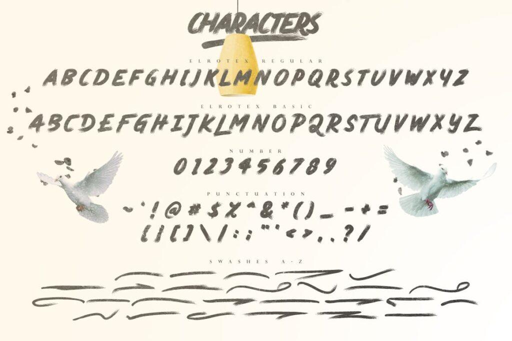 网站标题毛笔笔刷字体下载Elrotex Brush Font插图(9)
