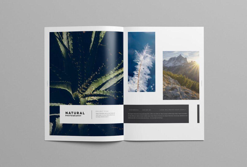 时尚摄影简洁板式画册杂志模板素材下载Fashion Photography Catalog Brochure插图(8)