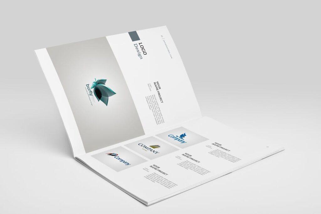 精致文艺平面设计作品集画册模板素材Graphic Design Portfolio Template插图(7)