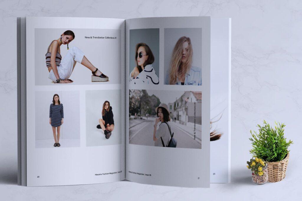 简约风格摄影工作室画册杂志模板HAVANA Minimal Magazine Fashion插图(9)