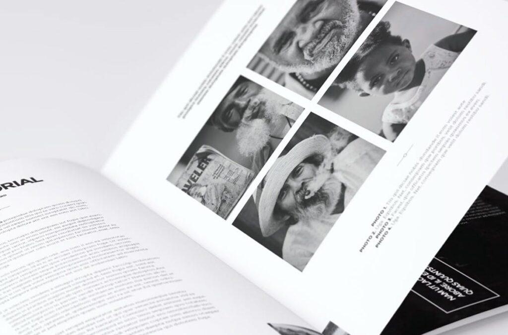 黑白风格历史介绍杂志模版素材InDesign Magazine Template WBM4TW插图(9)