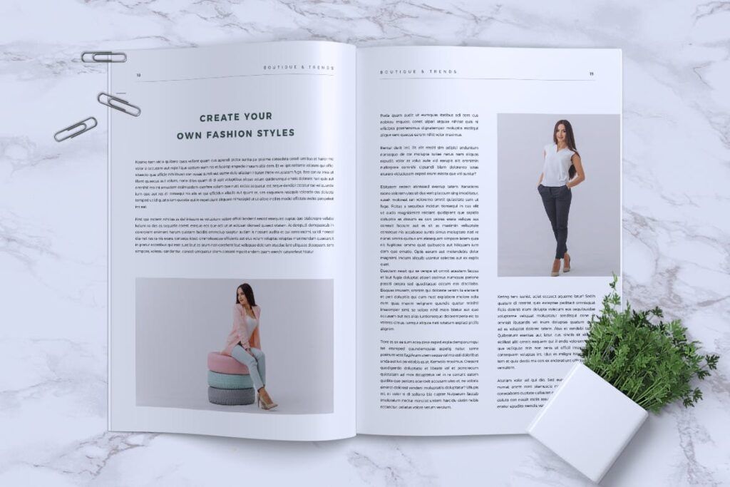 优雅时尚多用途杂志模板MISQUEEN Minimal Magazine Styles插图(9)