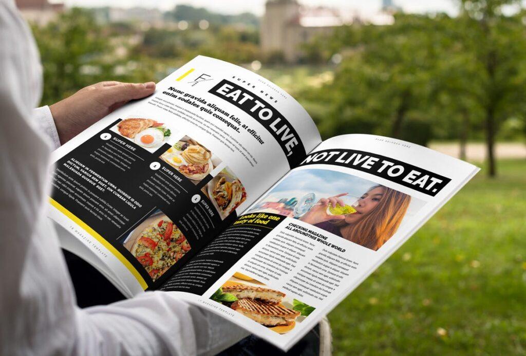 健身运动主题周刊杂志模板/Magazine插图(9)