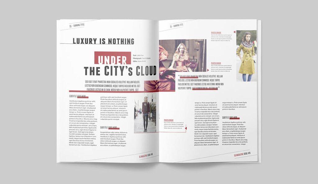 精英访谈采访主题杂志模板素材Magazine Template 8NSXE49插图(8)