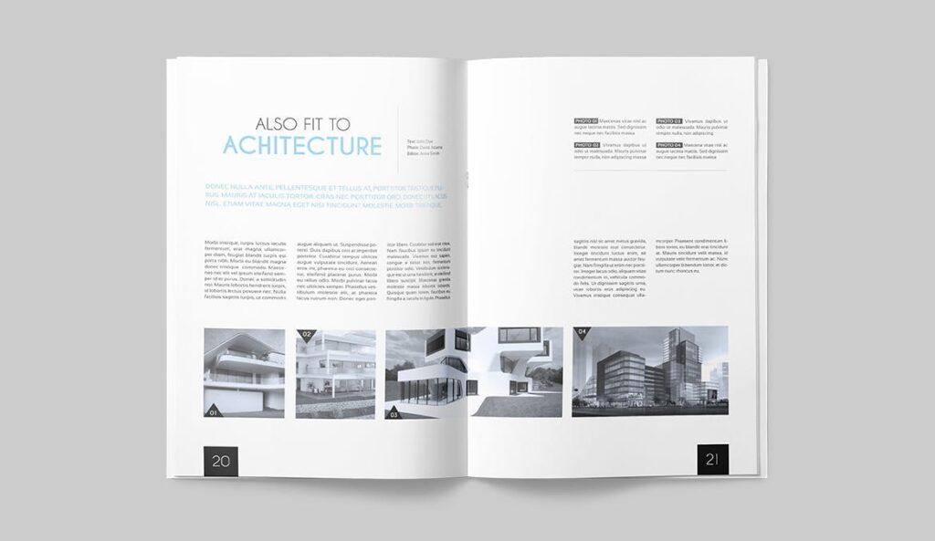 企业多用途杂志画册模板素材下载Magazine Template 4DG6APQ插图(9)