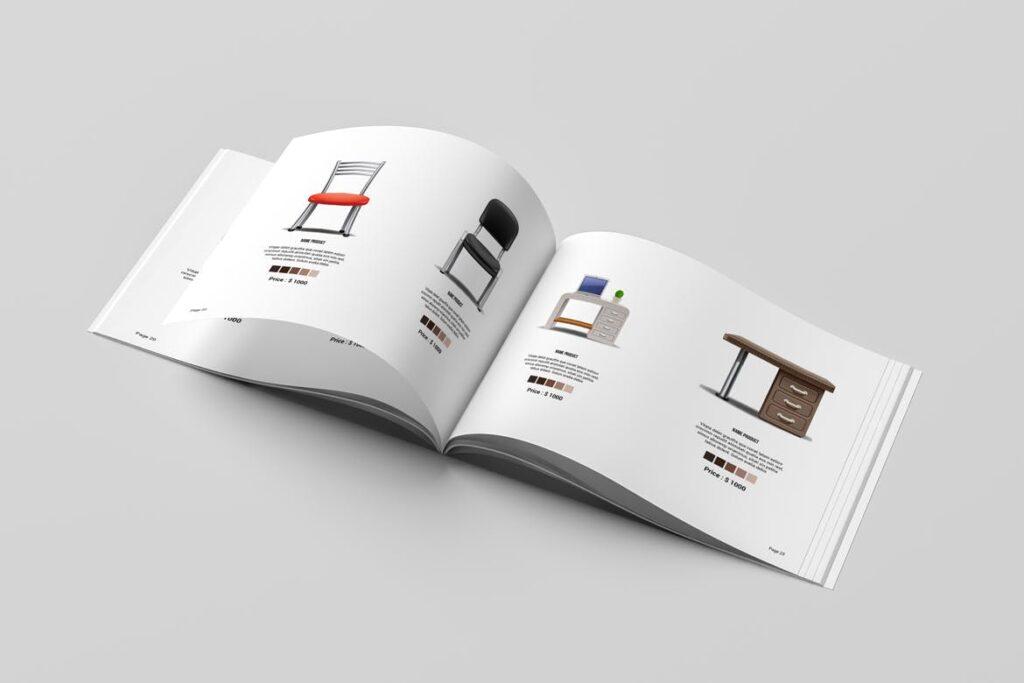 横版室内设计小册子/目录画册模板Minimal Interior Brochure插图(8)