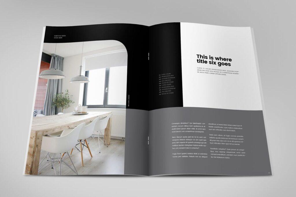 极简室内设计/居家生活美学杂志画册模板Minimal Interior Design Magazine插图(9)