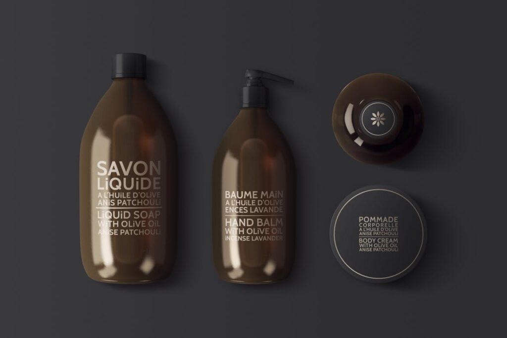 棕色天然化妆品包装瓶实物模型样机Natural Cosmetic Packaging Mock Ups Vol3插图(7)