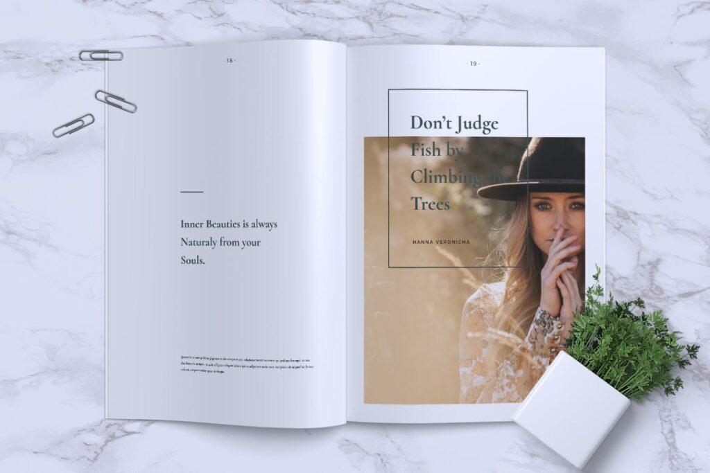 简约企业商务小册子目录/多用途画册模板PLUMERY Minimal Magazines插图(9)