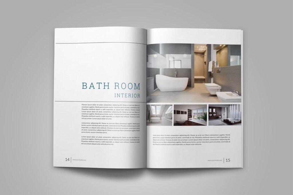 优雅简洁室内设计手册/目录/杂志画册模板PSD Interior Brochures Catalogs Magazine插图(9)