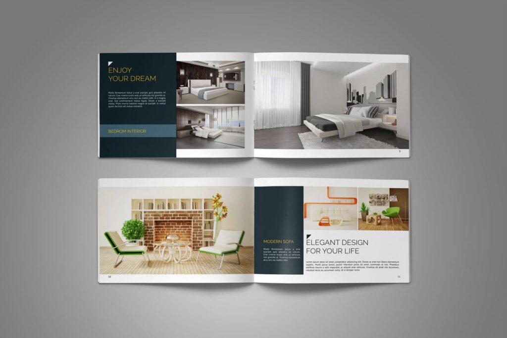 横版家居产品介绍/目录/投资组合画册模版素材Portfolio Brochure Catalog插图(7)