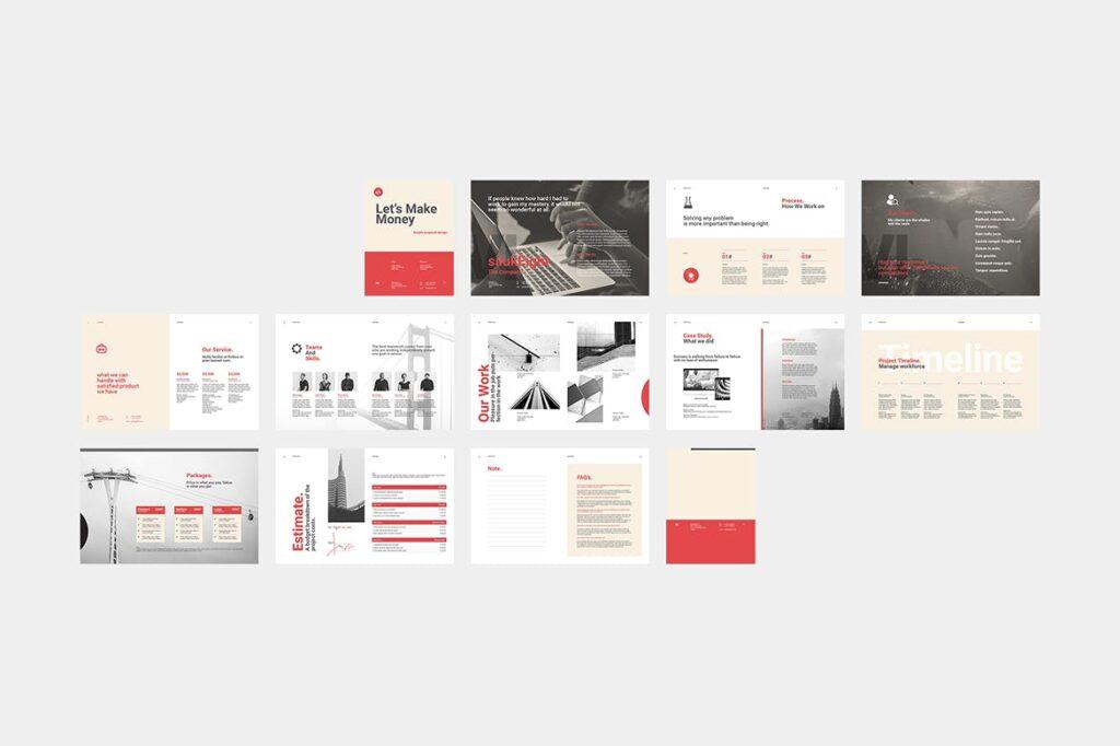 企业商业计划书企业内部提案模板Proposal插图(8)