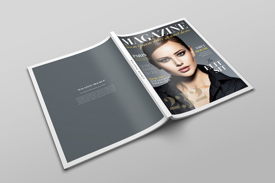 时尚服装杂志/封面/内页样机展示US Letter Magazine Mockup VN7KUN插图(7)