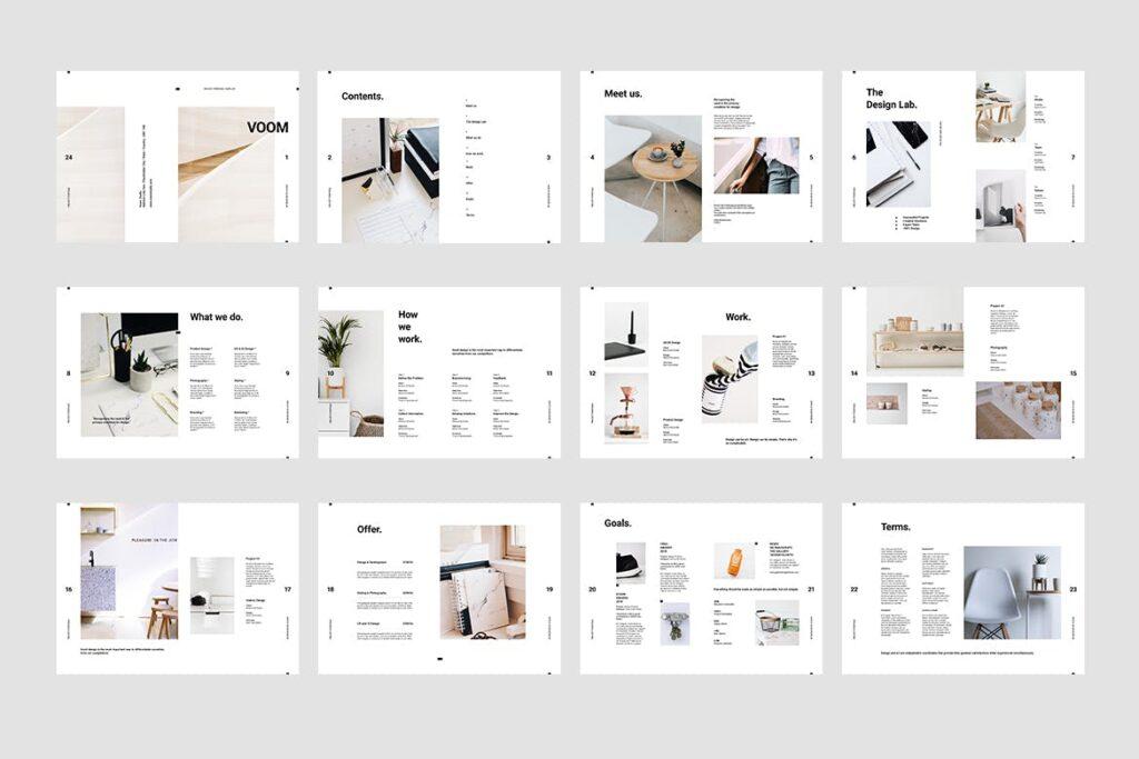 现代生活极致简洁家居设计/室内设计画册模版Voom Proposal插图(9)