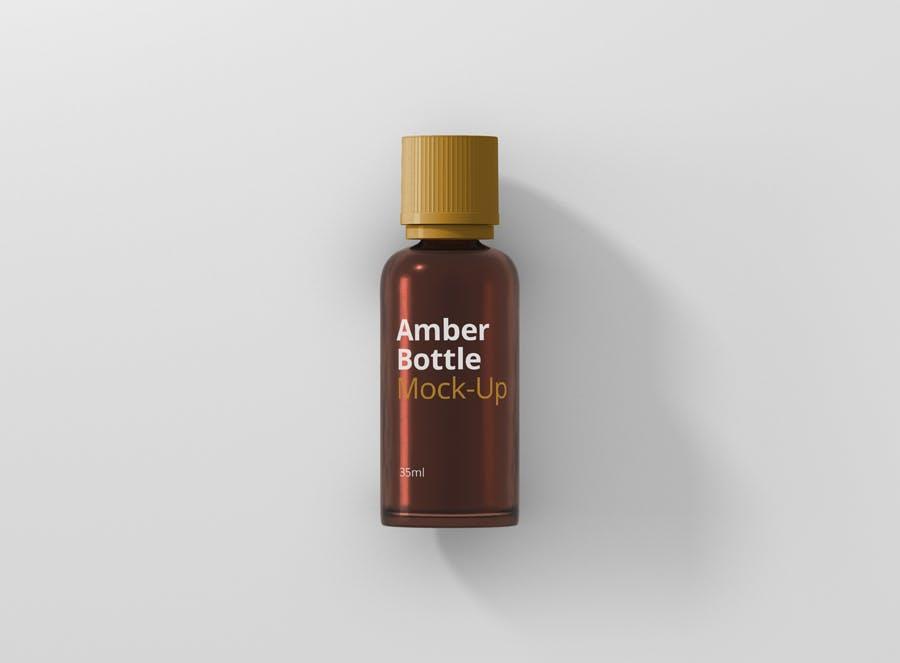 6个高品质琥珀药品瓶模型样机Amber Bottle Mockup插图(10)