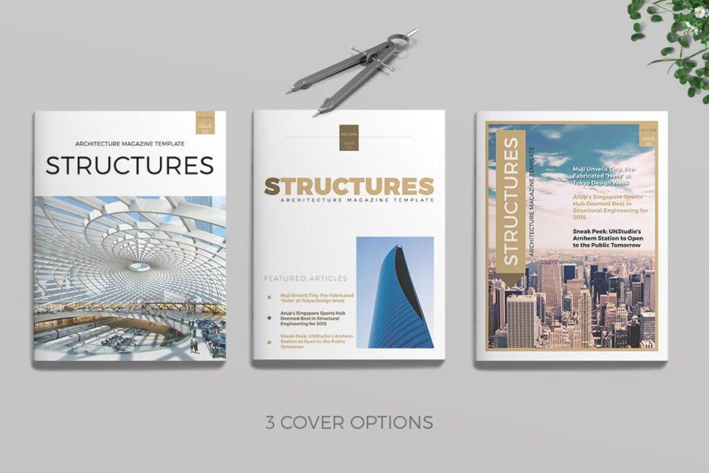 建筑设计/生态空间规划杂志模板Architecture Magazine插图(9)